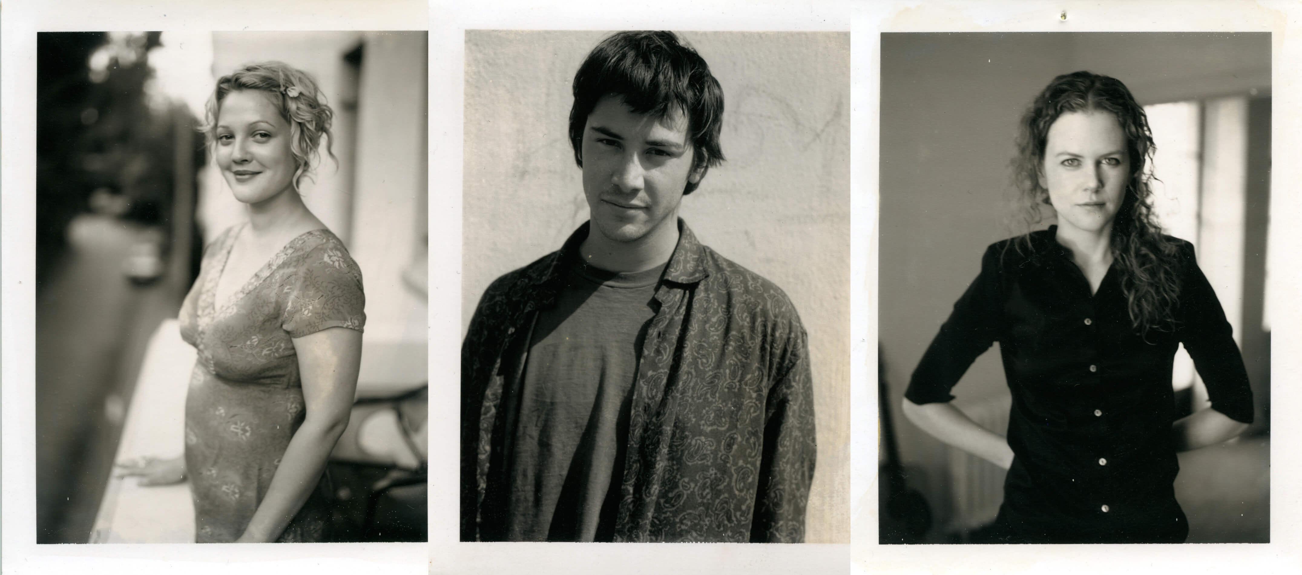 Дрю Беррімор, Кіану Рівз, Ніколь Кідман, полароїдні знімки Ґаса Ван Сента, 1983-1999 © Gus Van Sant.