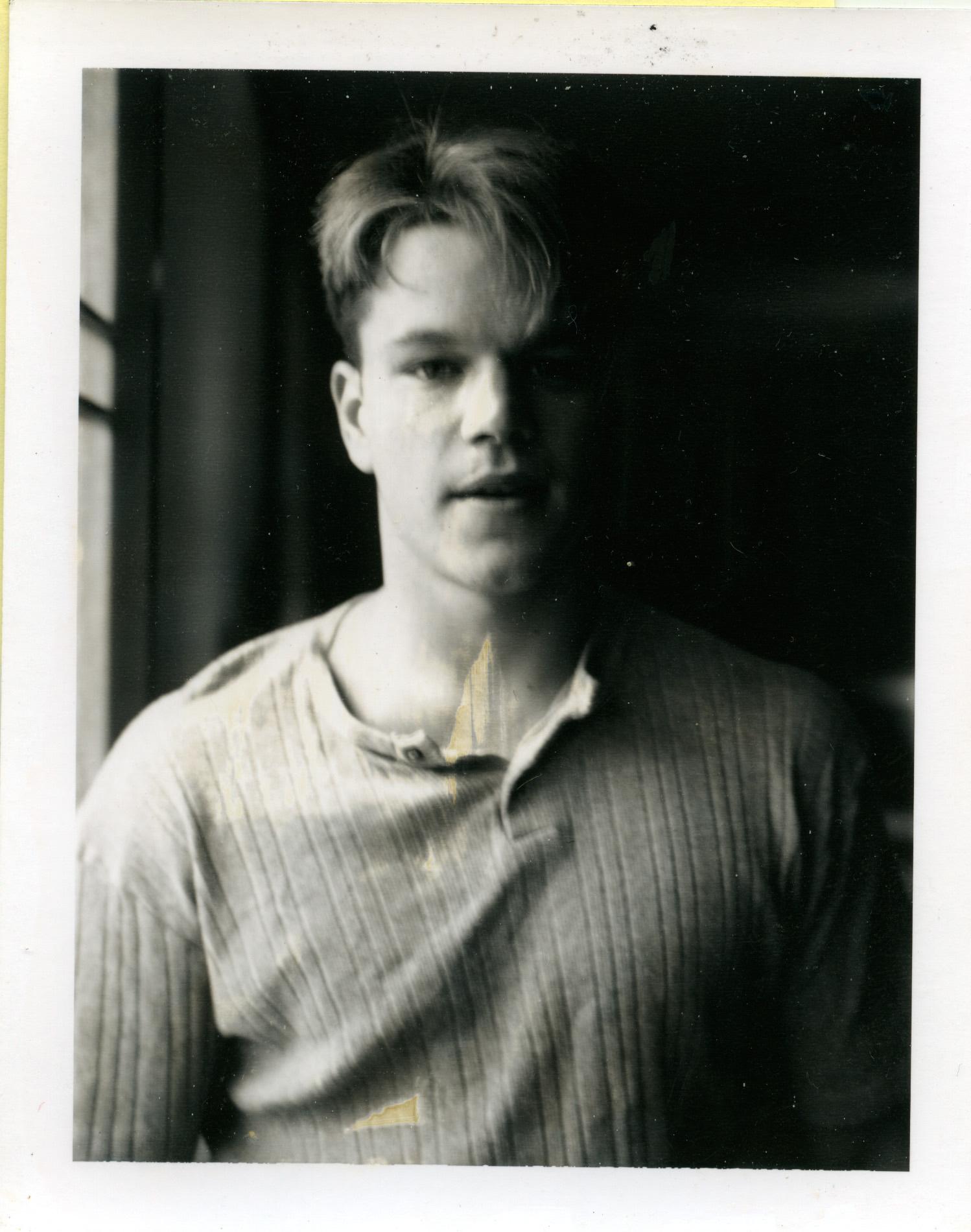 Метт Деймон, полароїдні знімки Ґаса Ван Сента, 1983-1999 © Gus Van Sant.
