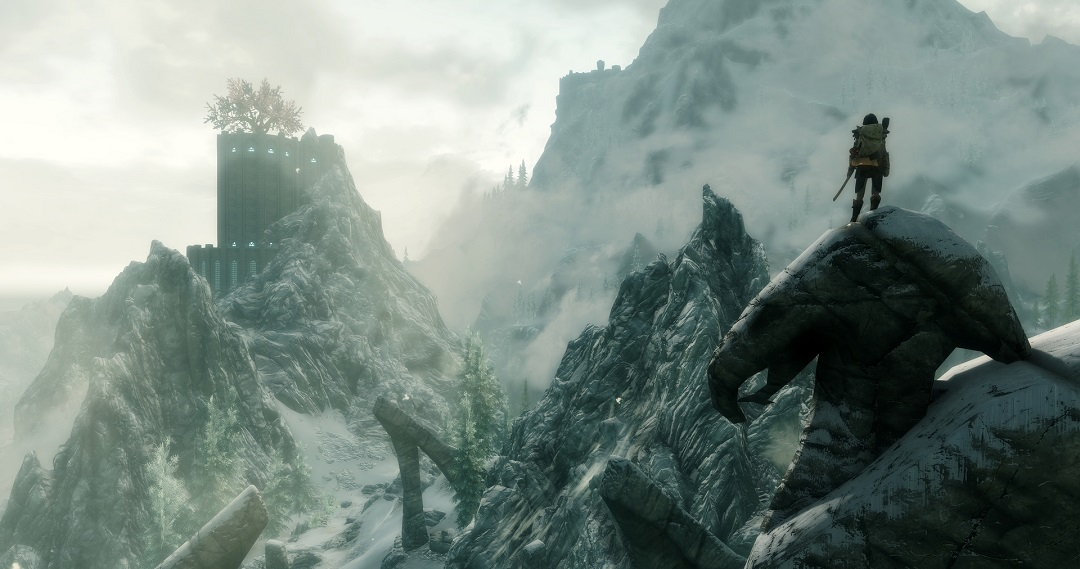 Видовищні гори у Skyrim