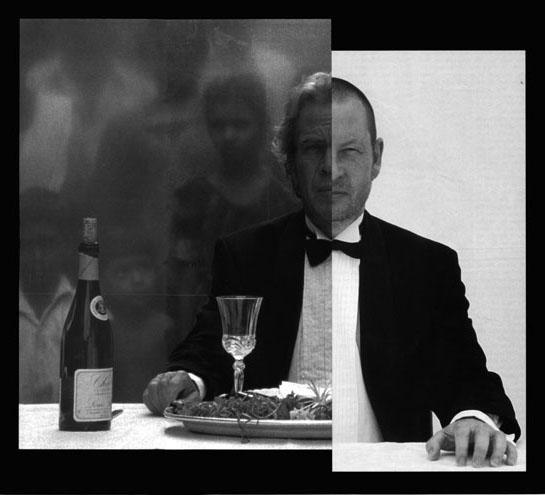 Йорген Лет (зліва) і Ларс фон Трієр (праворуч) у фільмі «П'ять перешкод». Фото з архіву Zentropa Real.